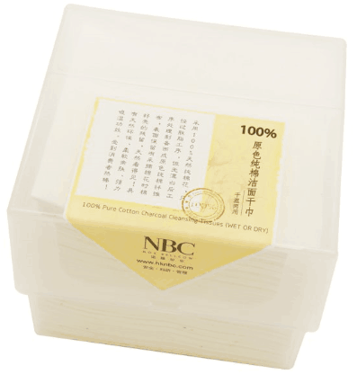NOX BELLCOW-Wet and Dry Wipes 100 Pure Cotton Charcoal Cleansing Tissue