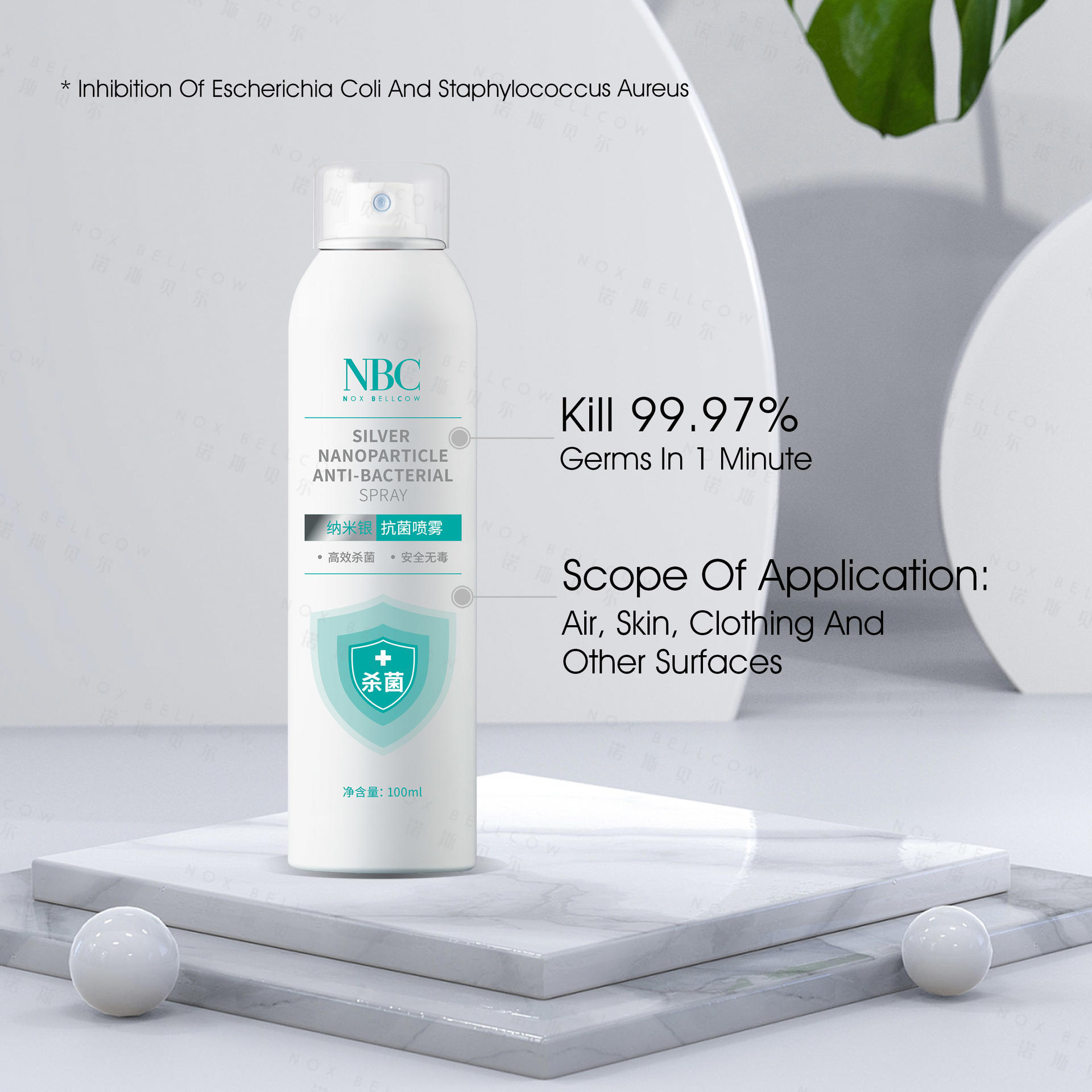 Nano silver antimicrobial spray