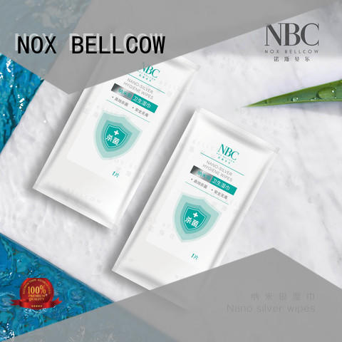 NOX BELLCOW Latest Nano silver wipes factory for skincare