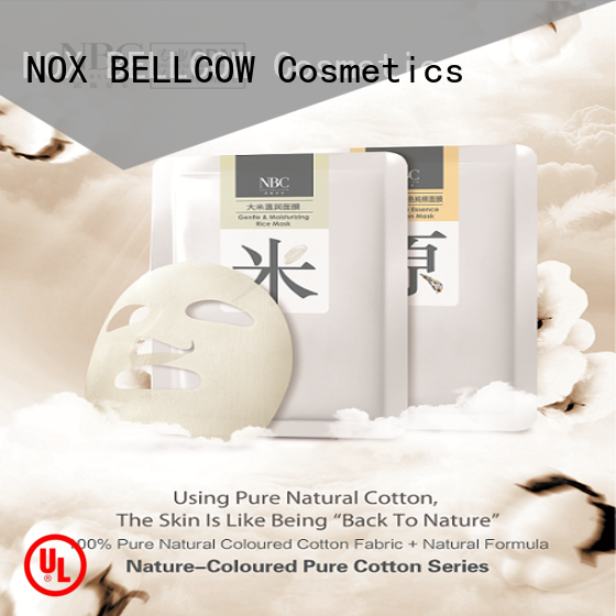 NOX BELLCOW moist japanese face mask series for beauty salon