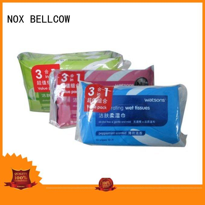 Custom peppermint cleansing facial cleansing wipes NOX BELLCOW adult