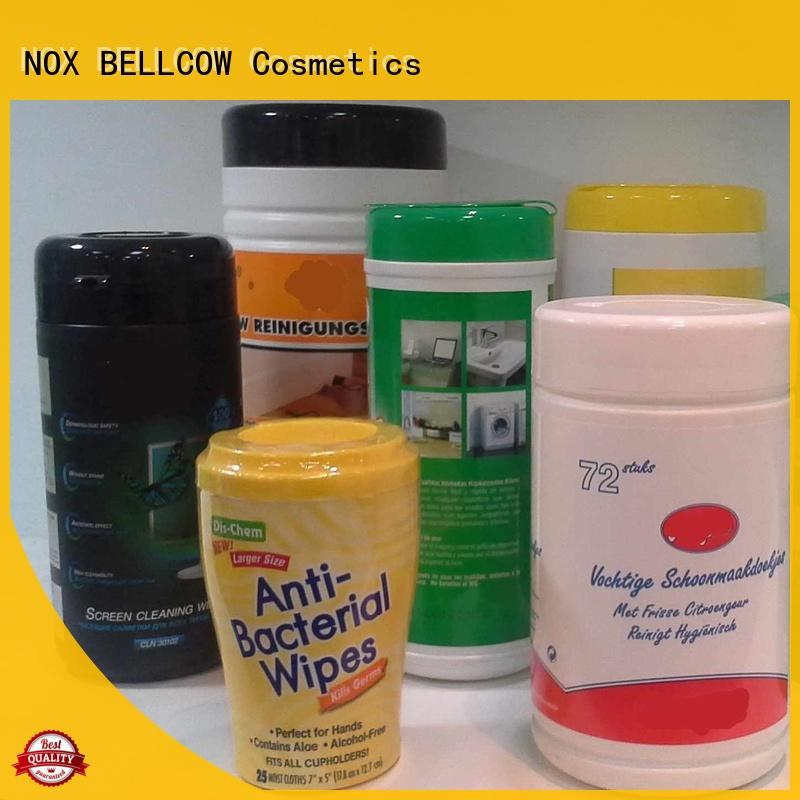 professional nox bellcow cosmetics wipes manufacturer for skincare