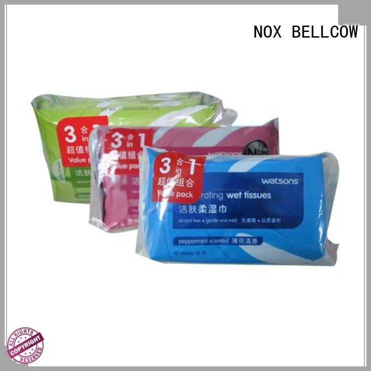 NOX BELLCOW invigorating best facial cleansing wipes wholesale for face