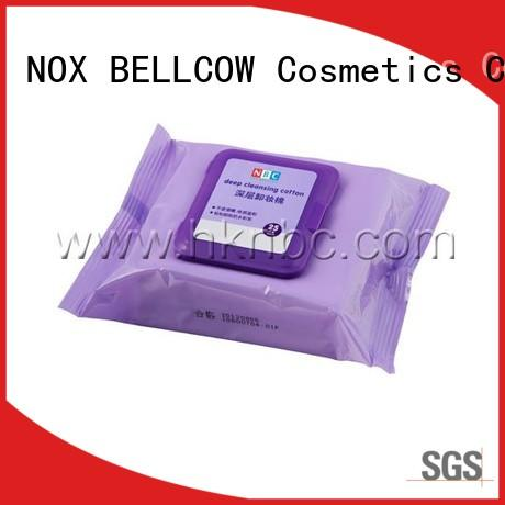 NOX BELLCOW pads natural makeup remover wipes supplier for hand