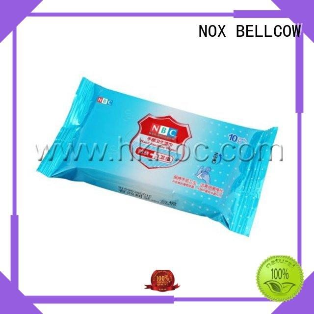 mini green NOX BELLCOW Brand acne cleansing wipes factory