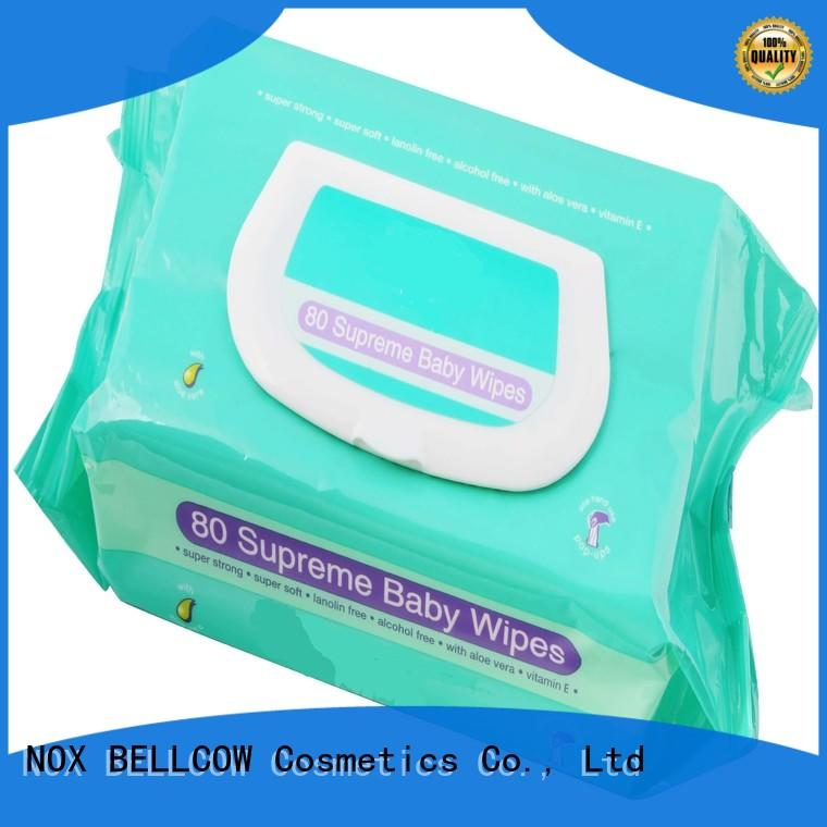NOX BELLCOW 380pcs baby face wipes manufacturer for skincare
