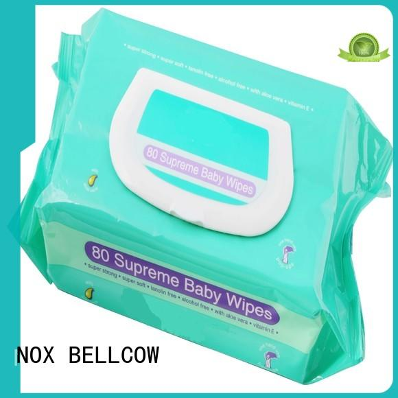 NOX BELLCOW vitamin E baby face wipes factory for skincare