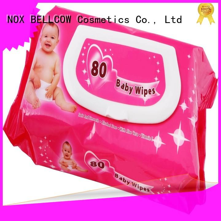 NOX BELLCOW tender baby water wipes manufacturer for body