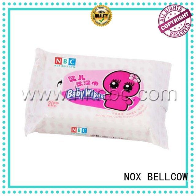 wet biodegradable baby wipes mouth fragrance NOX BELLCOW Brand