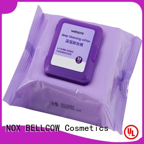 NOX BELLCOW cotton makeup remover wipes for sensitive skin factory for ladies