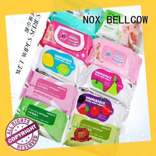 NOX BELLCOW invigorating cleansing wipes for oily skin adult for adult