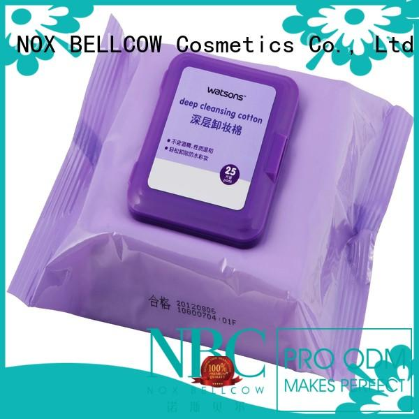 cotton eraser oil free makeup remover wipes makeup NOX BELLCOW company