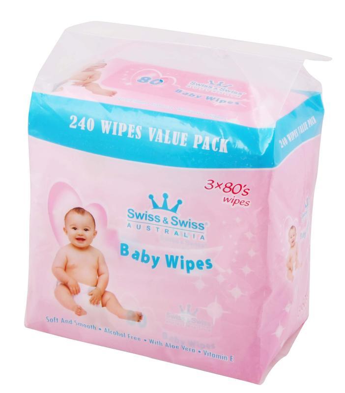 Baby Wipes 3*80pcs