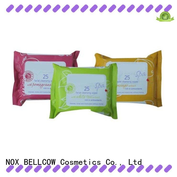 NOX BELLCOW oil control cleansing wipes supplier for skincare