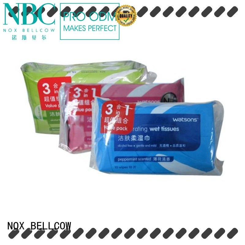 NOX BELLCOW invigorating oil cleansing wipes supplier for women