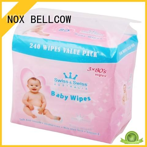 NOX BELLCOW pure natural baby wipes supplier