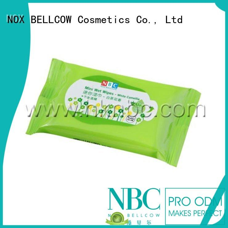 Custom mini facial cleansing wipes clean NOX BELLCOW