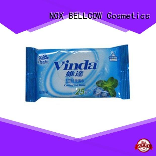NOX BELLCOW invigorating men's facial cleansing wipes factory for man