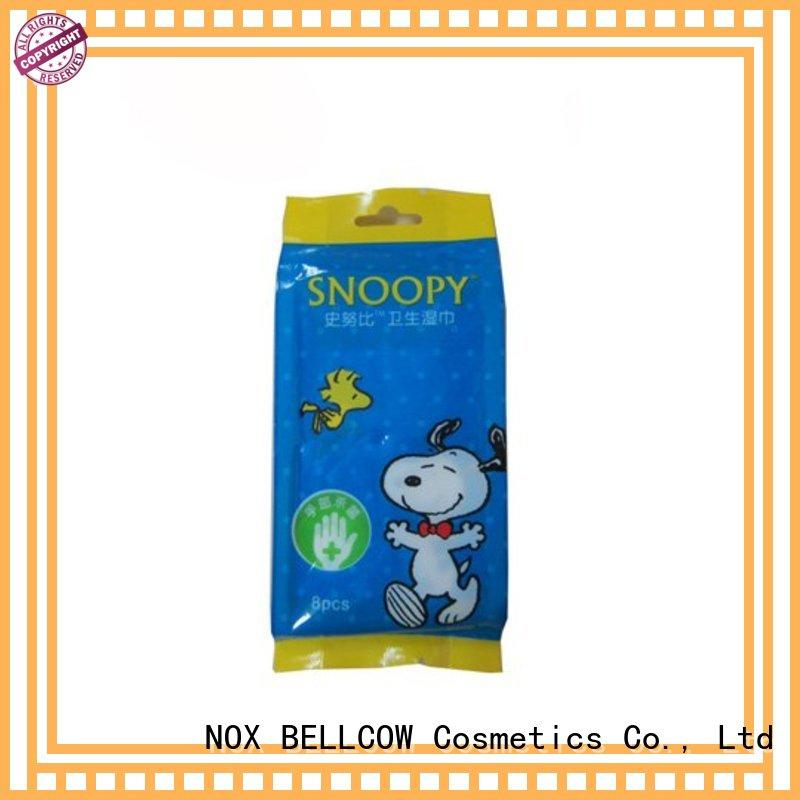 NOX BELLCOW 10pcs best facial cleansing wipes factory for hand