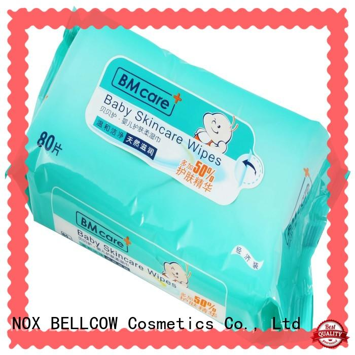 NOX BELLCOW 20pcs pure baby wipes supplier for ladies