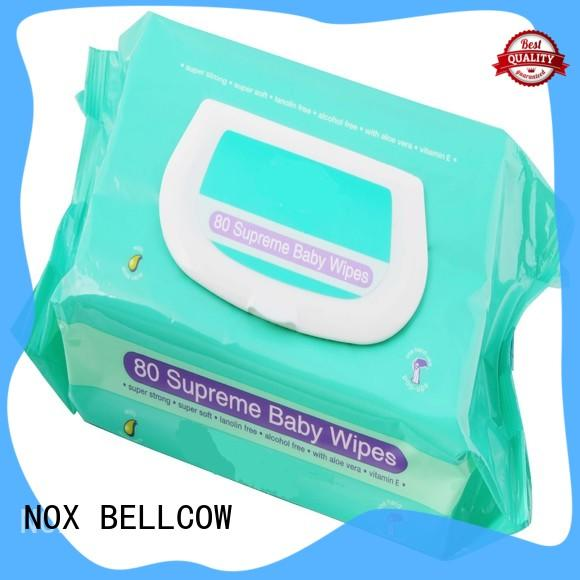 NOX BELLCOW tender pure baby wipes factory for skincare