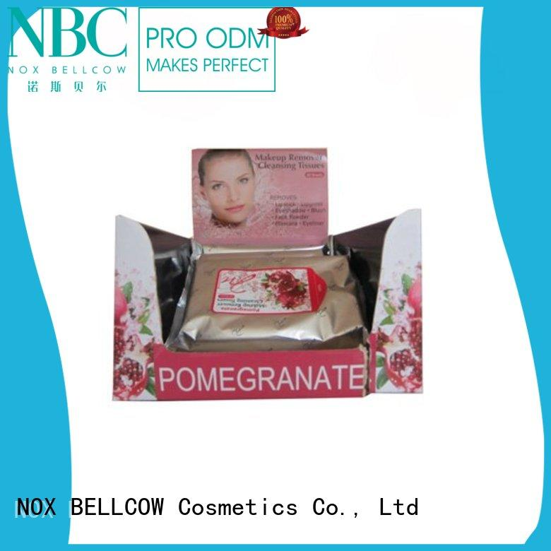 NOX BELLCOW cleansing makeup wipes for sensitive skin cleansing for neck