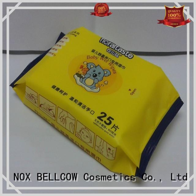 biodegradable baby wipes fragrance wet tender NOX BELLCOW Brand company