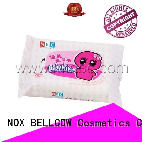 NOX BELLCOW Brand free special biodegradable baby wipes hand