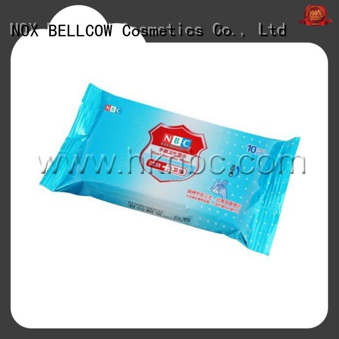 NOX BELLCOW oil control oil cleansing wipes factory for skincare