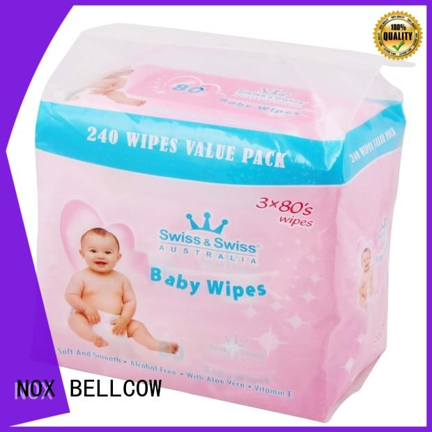 NOX BELLCOW cotton antibacterial baby wipes series for infant