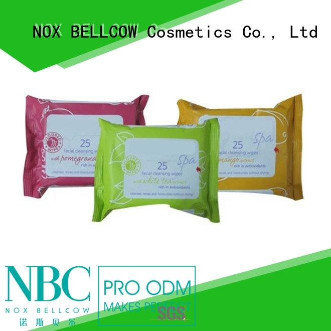 refreshing simple sensitive skin cleansing facial wipes wholesale for hand NOX BELLCOW