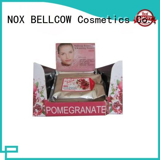 NOX BELLCOW remover natural makeup remover wipes factory for ladies
