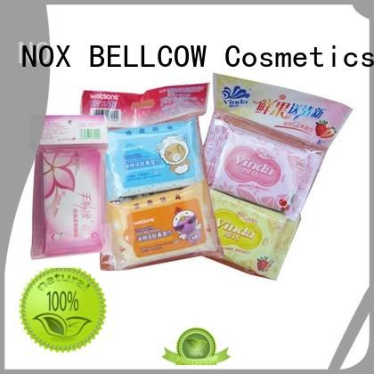 cooling individual snoopy NOX BELLCOW Brand facial cleansing wipes supplier