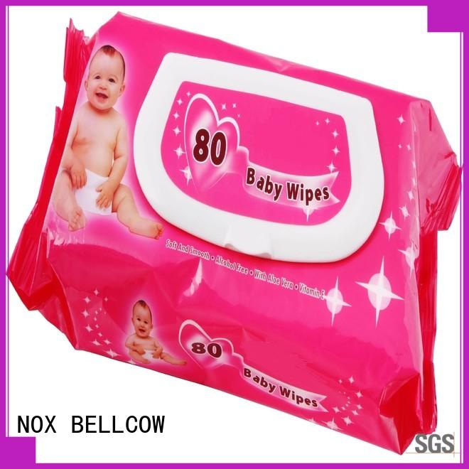 NOX BELLCOW cotton natural baby wipes supplier for body