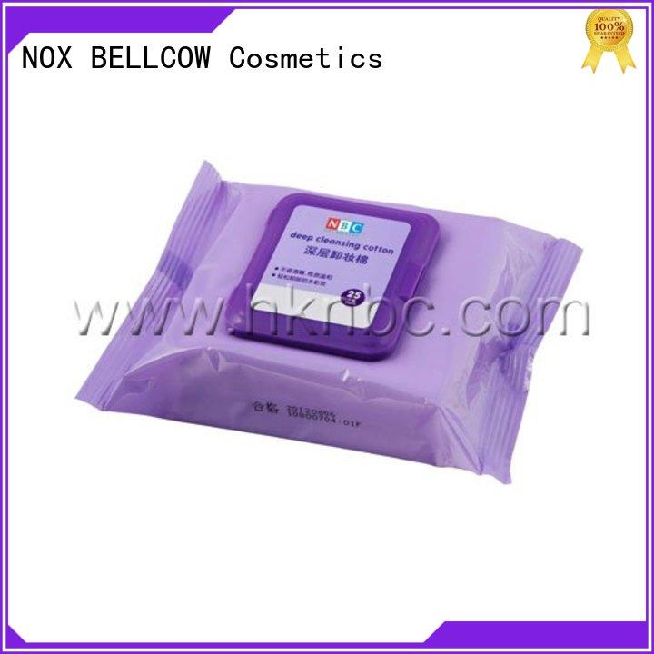 NOX BELLCOW wet best makeup remover wipes wholesale for ladies