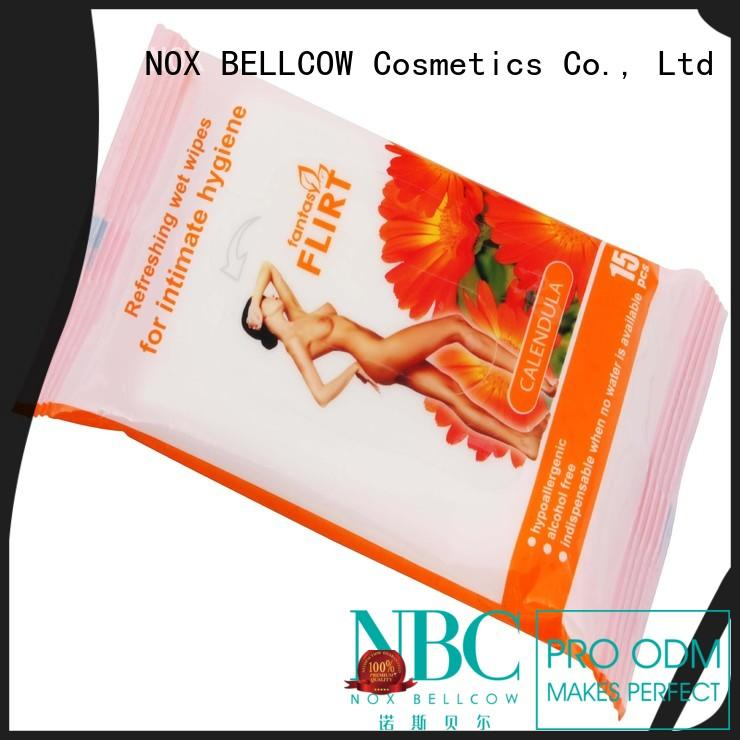 individual men's cleansing wipes factory for hand NOX BELLCOW