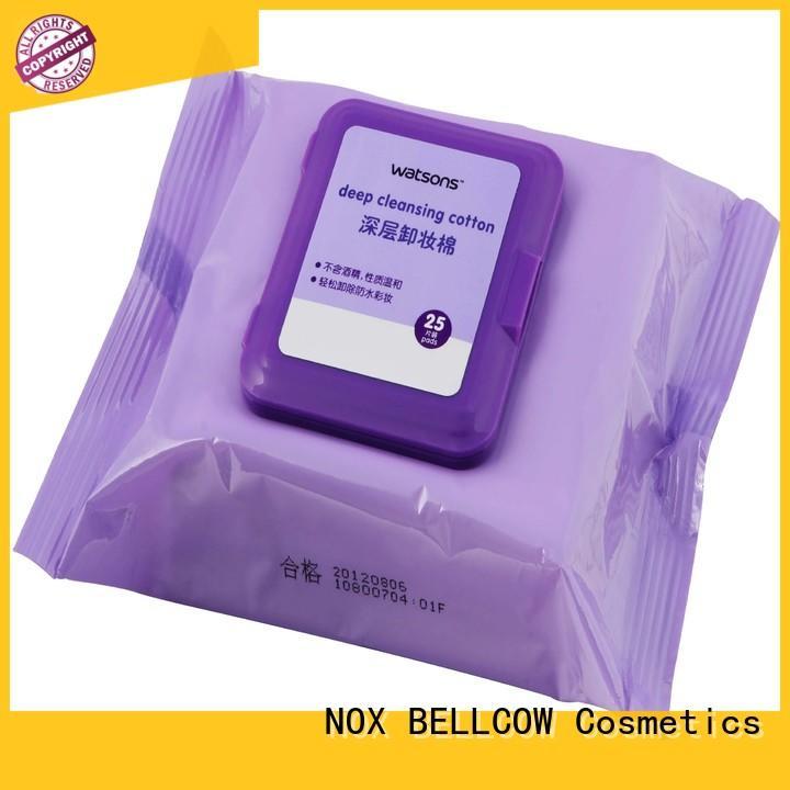 NOX BELLCOW environmentally makeup remover wipes supplier