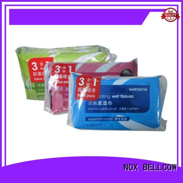 NOX BELLCOW individual men's cleansing wipes wholesale for women