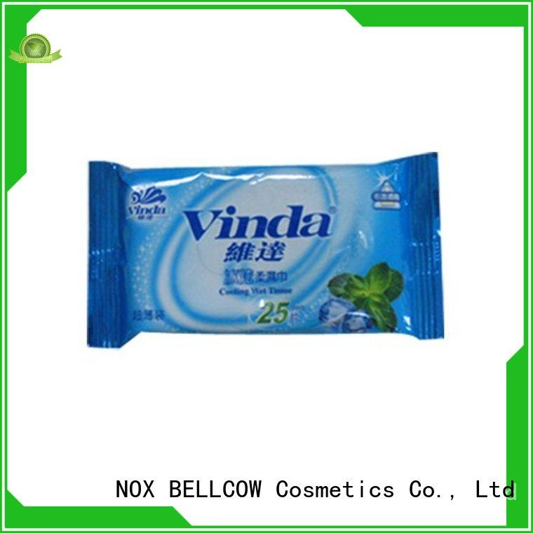 NOX BELLCOW cooling oil cleansing wipes wholesale for ladies
