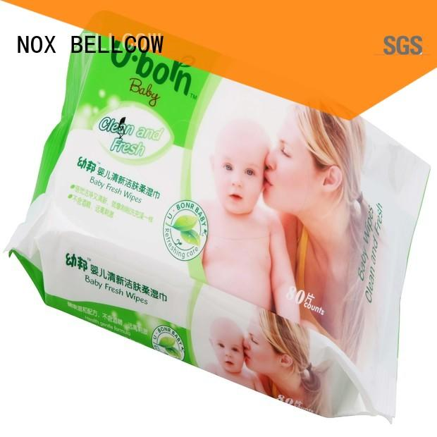 NOX BELLCOW moisturizing antibacterial baby wipes factory for body
