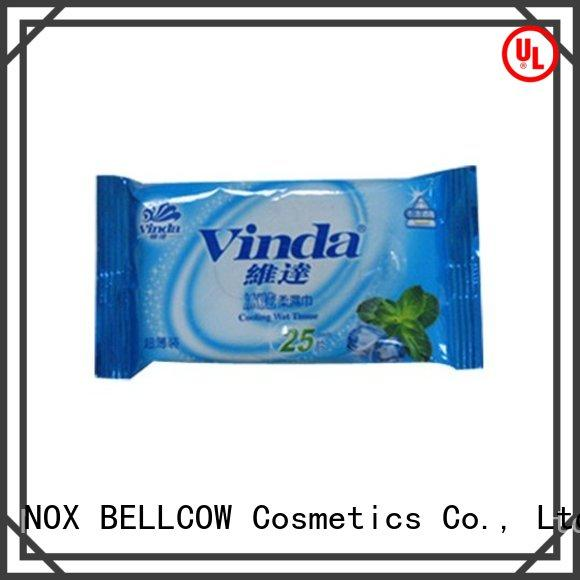 NOX BELLCOW cooling oil cleansing wipes wholesale for hand