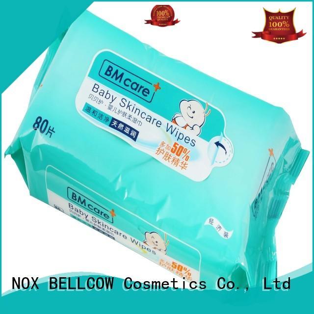 Hot moisturizing biodegradable baby wipes hand NOX BELLCOW Brand