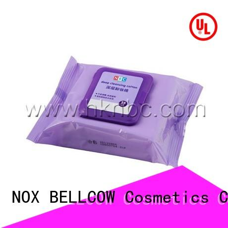 NOX BELLCOW wet best makeup wipes for sensitive skin factory for ladies