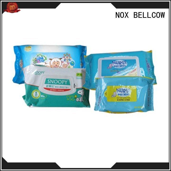 NOX BELLCOW 80pcs antibacterial baby wipes factory for skincare