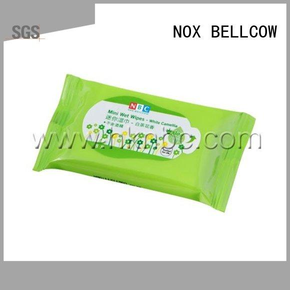 NOX BELLCOW green tea facial cleansing wipes wholesale for skincare
