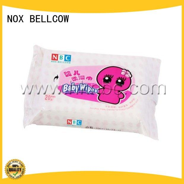 NOX BELLCOW 80pcs antibacterial baby wipes supplier for infant