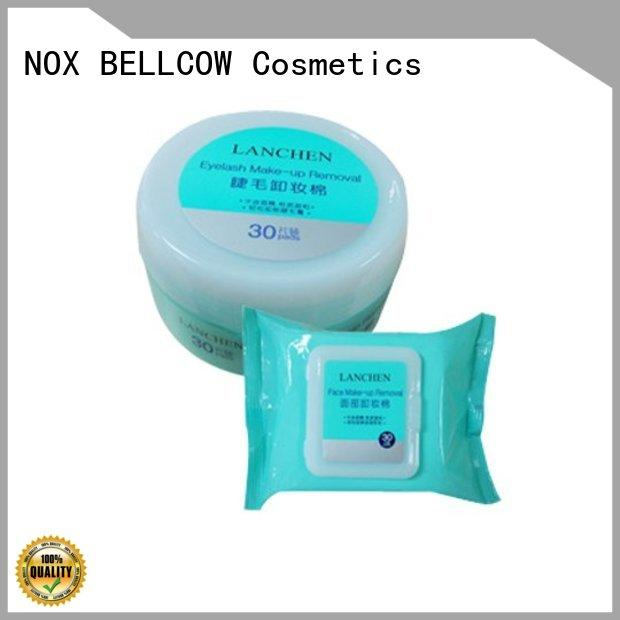 NOX BELLCOW biodegradable natural makeup remover wipes factory for skincare