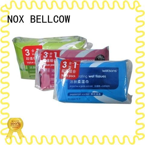 NOX BELLCOW 50s best facial cleansing wipes supplier for man