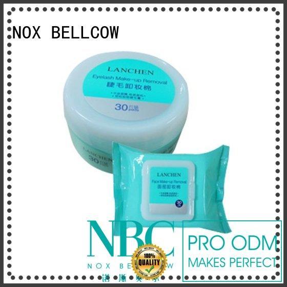 NOX BELLCOW eyelash individual makeup wipes factory for hand