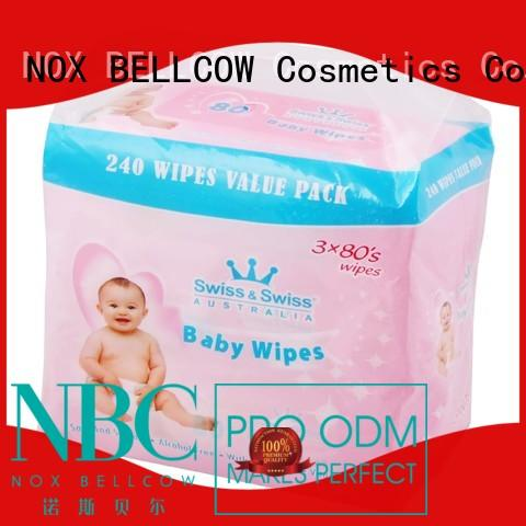 biodegradable baby wipes tender NOX BELLCOW Brand best baby wipes